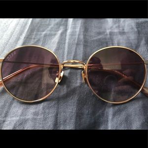 Diff Sunglasses Rose Gold